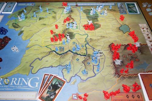 War of the Ringin toisen laitoksen pelilauta. Kuva: Jason Carlough / BGG