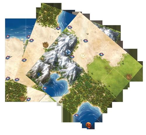Civilization-lautapelin karttaa
