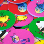 Värikkäitä kiekkoja lapsia varten