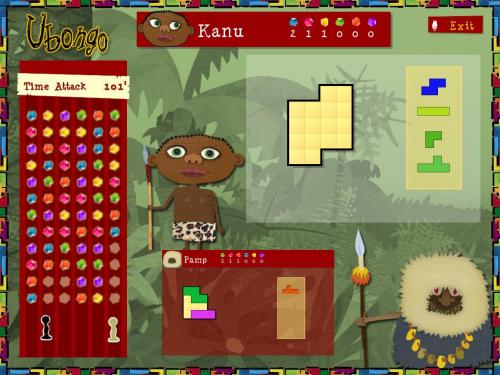 Ubongo-aikapelissä pitää ratkaista mahdollisimman monta tehtävää.