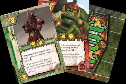 Team Managerin kortteja. Kuva: Fantasy Flight Games