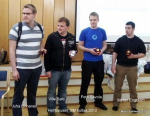 Heittopussit - Lautapelaamisen SM-voittajat 2012. Kuva: Mauri Sahlberg