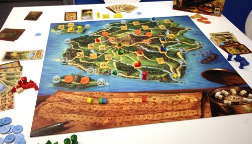 Madeira-peli käynnissä. Kuva: Daniel Danzer / BGG