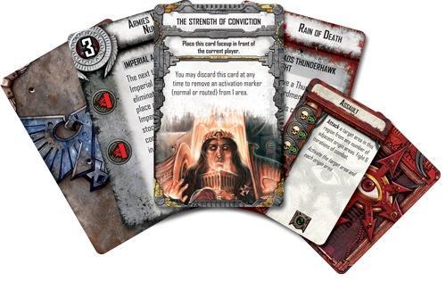 Horus Heresyn kortteja. Kuva: Fantasy Flight Games