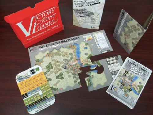 Pelin sisältö. Kuva: Victory Point Games