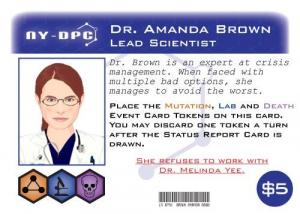 Tohtori Amanda Brown. Kuva: Victory Point Games