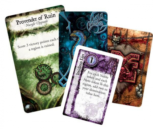 Chaos in the Old Worldin kortteja. Kuva: Fantasy Flight Games