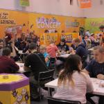 Spiel 2014 koostui neljästä messuhallista, jotka olivat täynnä demopelejä, prototyyppejä, esittelyitä ja valmistajia, jotka kilpailivat tuhansien messuvieraiden huomiosta ja mielenkiinnosta. Tässä Asmodeen ständi.