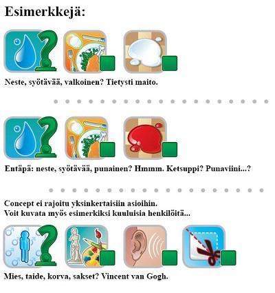 Concept-esimerkkejä