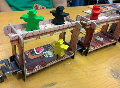 Rosvot väijyvät junan katolla. Kuva: Jacky Pohl / BGG