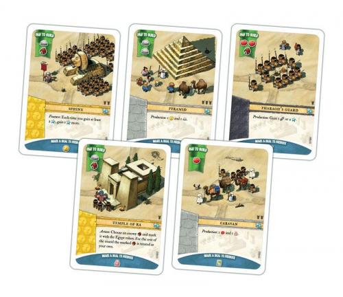 Egyptiläisten kortteja. Kuva: Portal Games