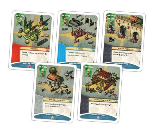 Roomalaisten kortteja. Kuva: Portal Games