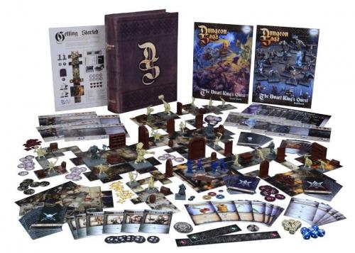 Dungeon Sagan sisältö. Kuva: Mantic Games