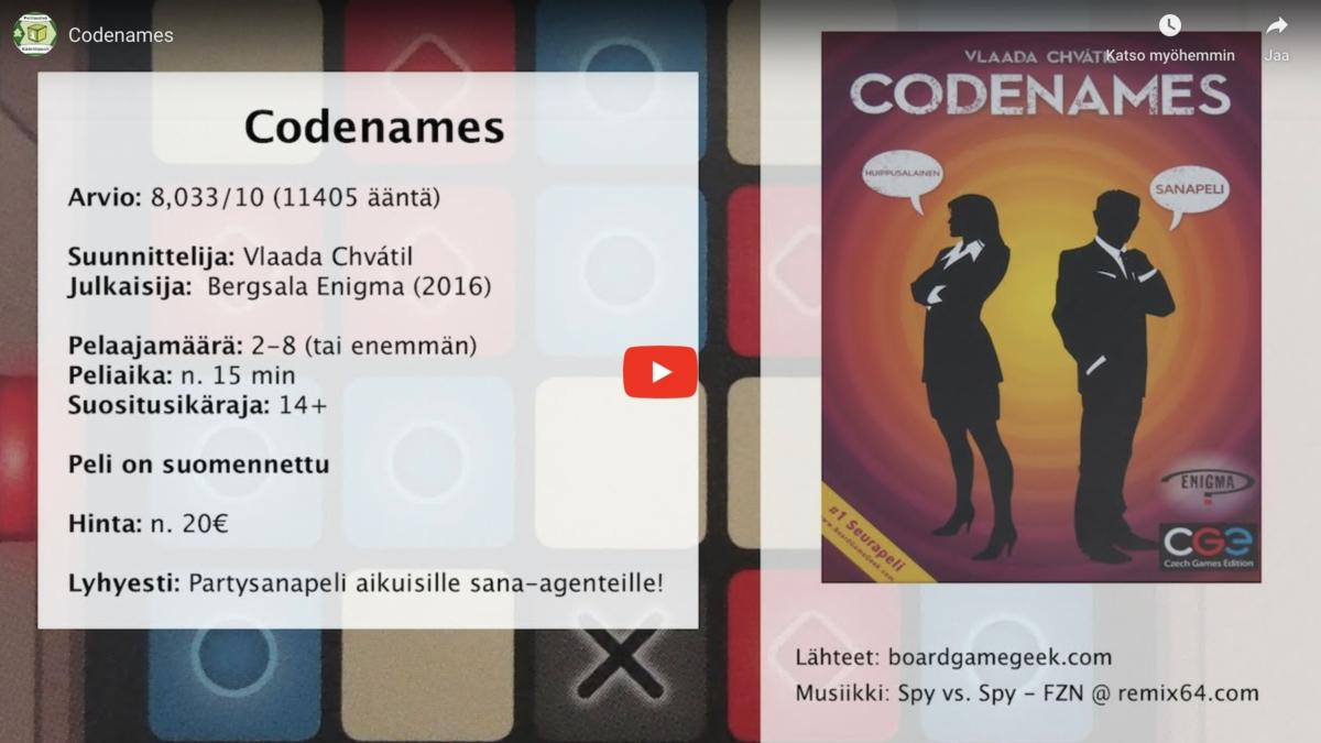 Codenames -esittelyvideo