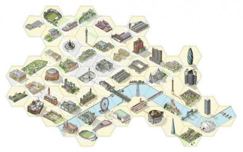 Key to the Cityn rakennuslaatat.