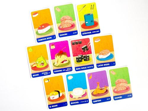 Sushi Go!:n kortit