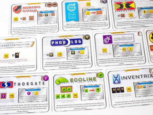 Valikoima yhtiökortteja lähikuvassa