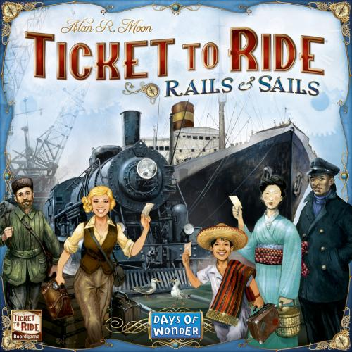 Ticket to Ride: Rails & Sailsin kansi