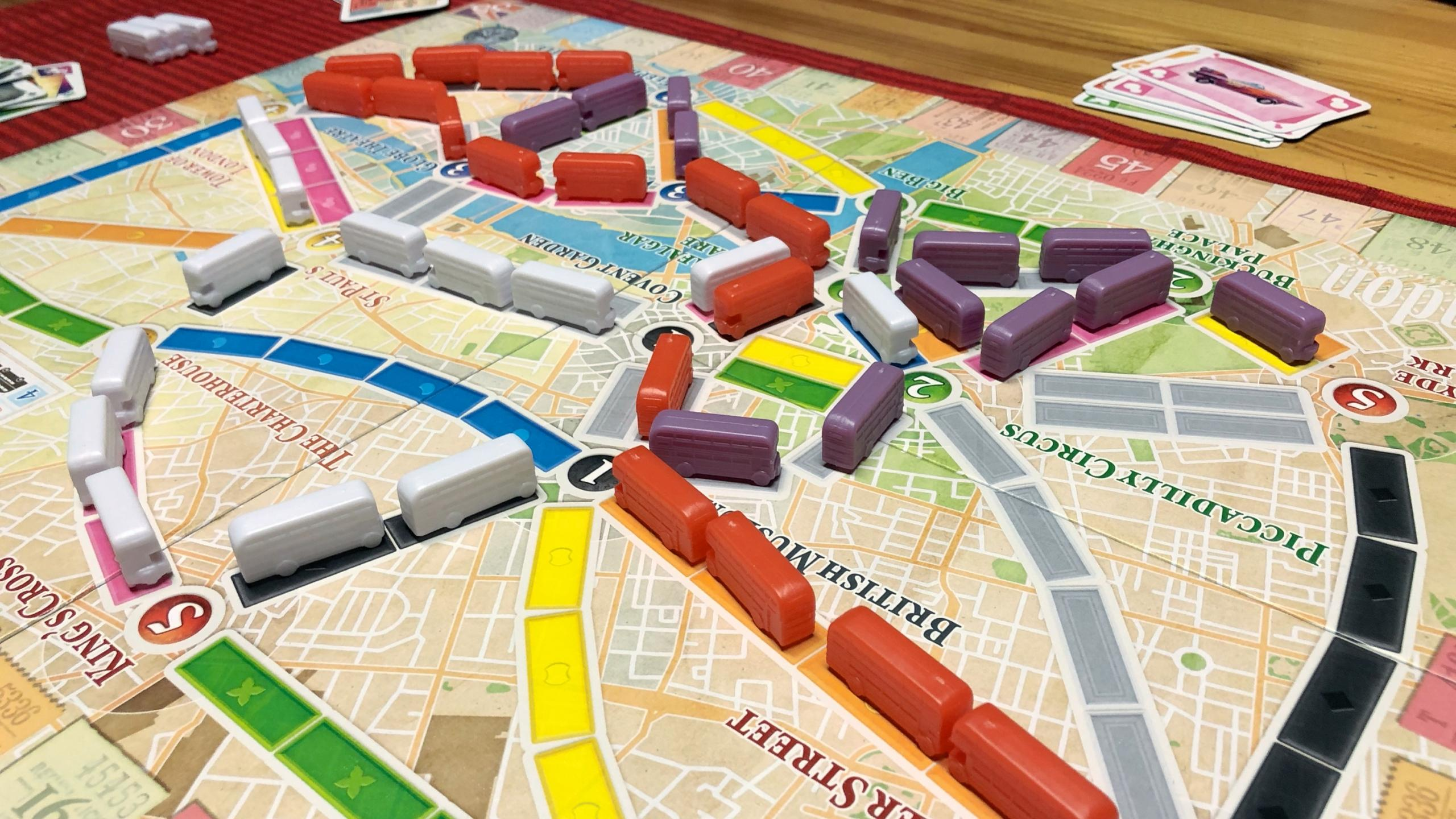 Ticket to Ride: Londonin pelitilanne