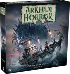 Arkham Horror: Under Dark Waves -lisäosan kansi