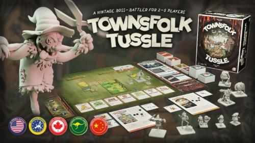 Townsfolk Tusslen mainosbanneri