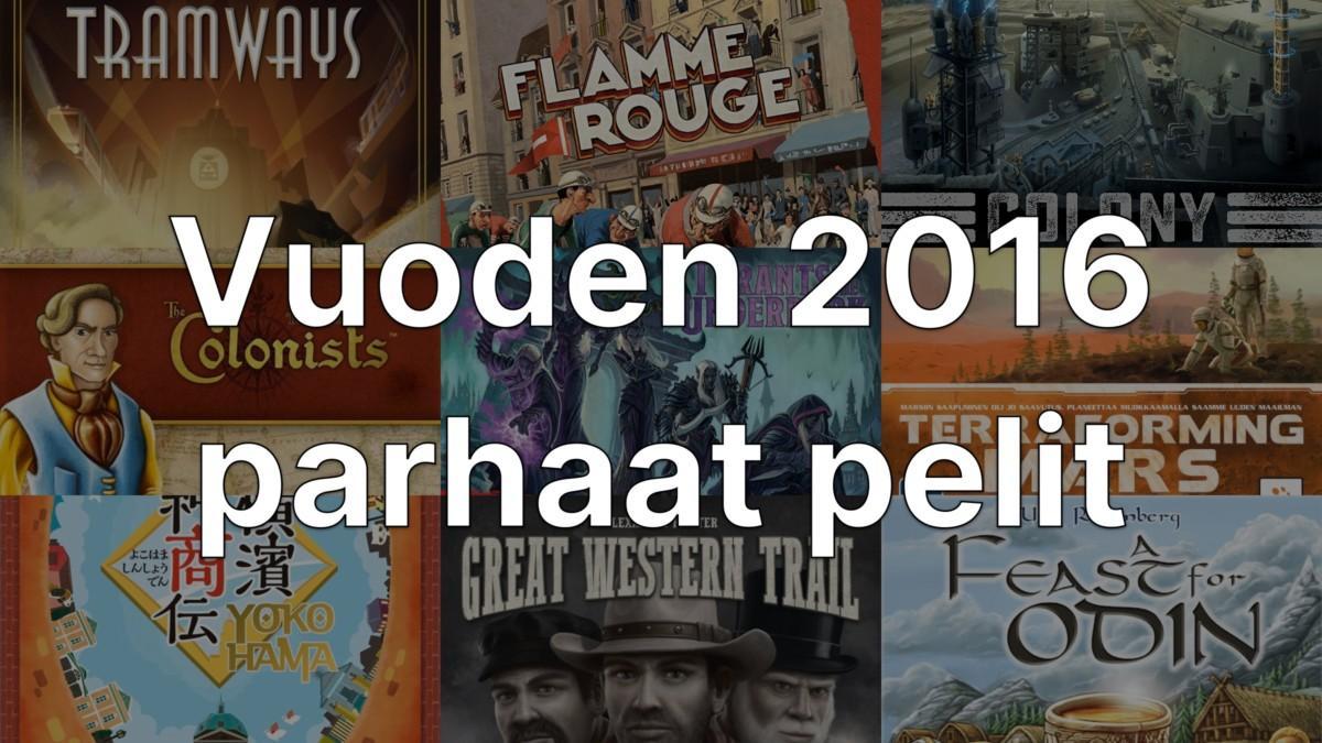 Vuoden 2016 parhaat pelit