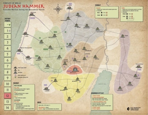 Judean Hammerin kartta