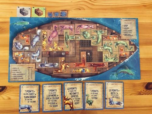 Isle of Cats -pelilauta ja laattoja