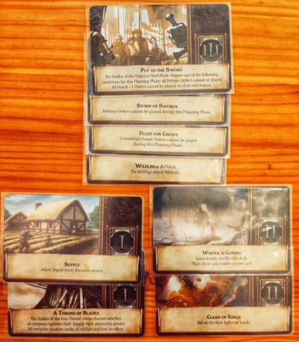A Game of Thrones –The Board Gamen kortteja