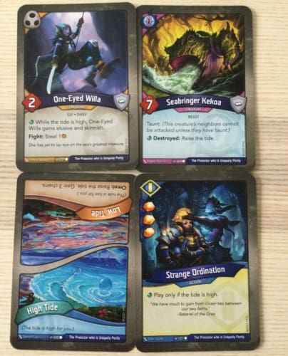 Dark Tidingsin kortteja