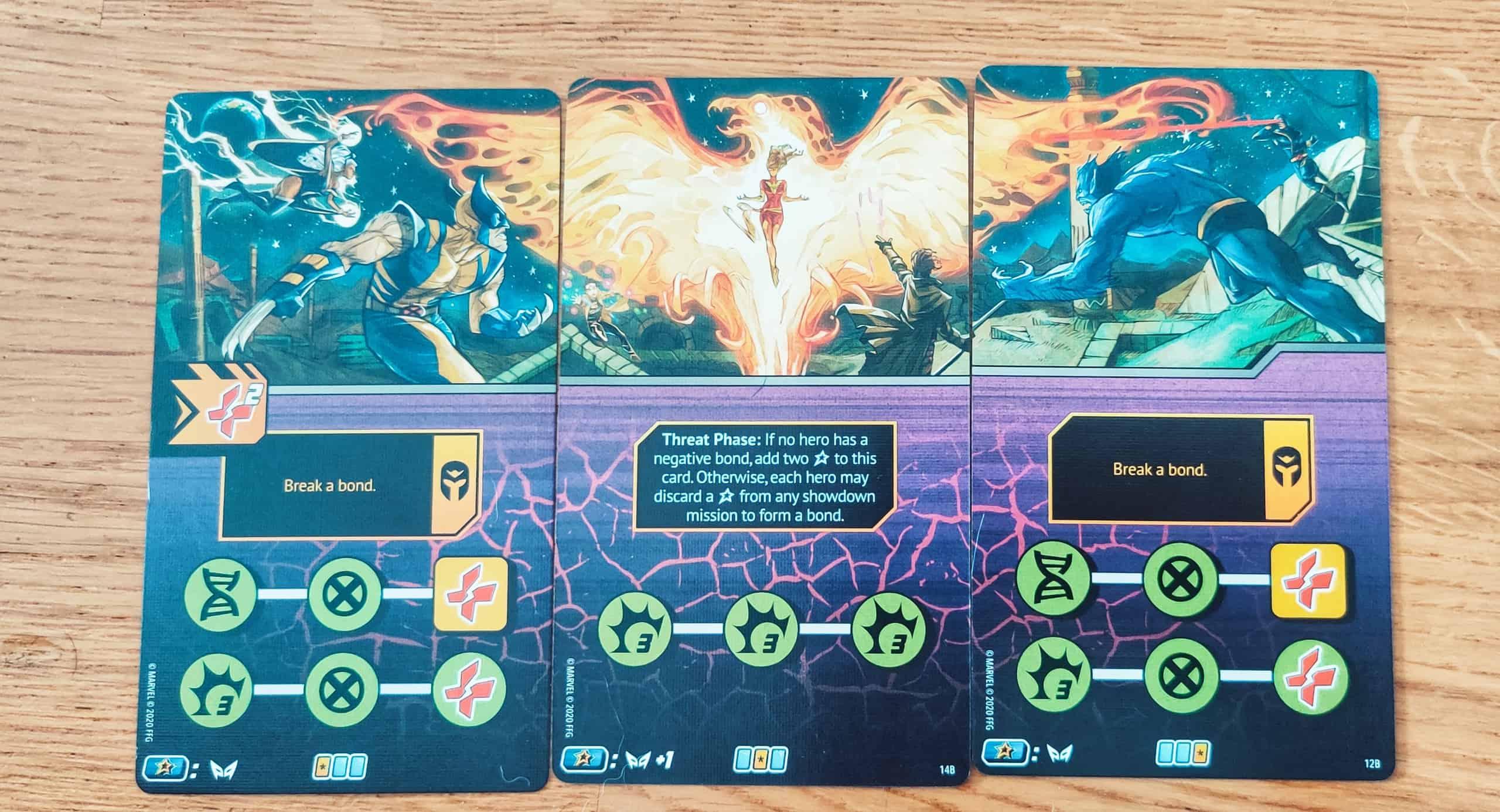 Kolmesta tehtäväkortista koostuva loppupelin panoraama