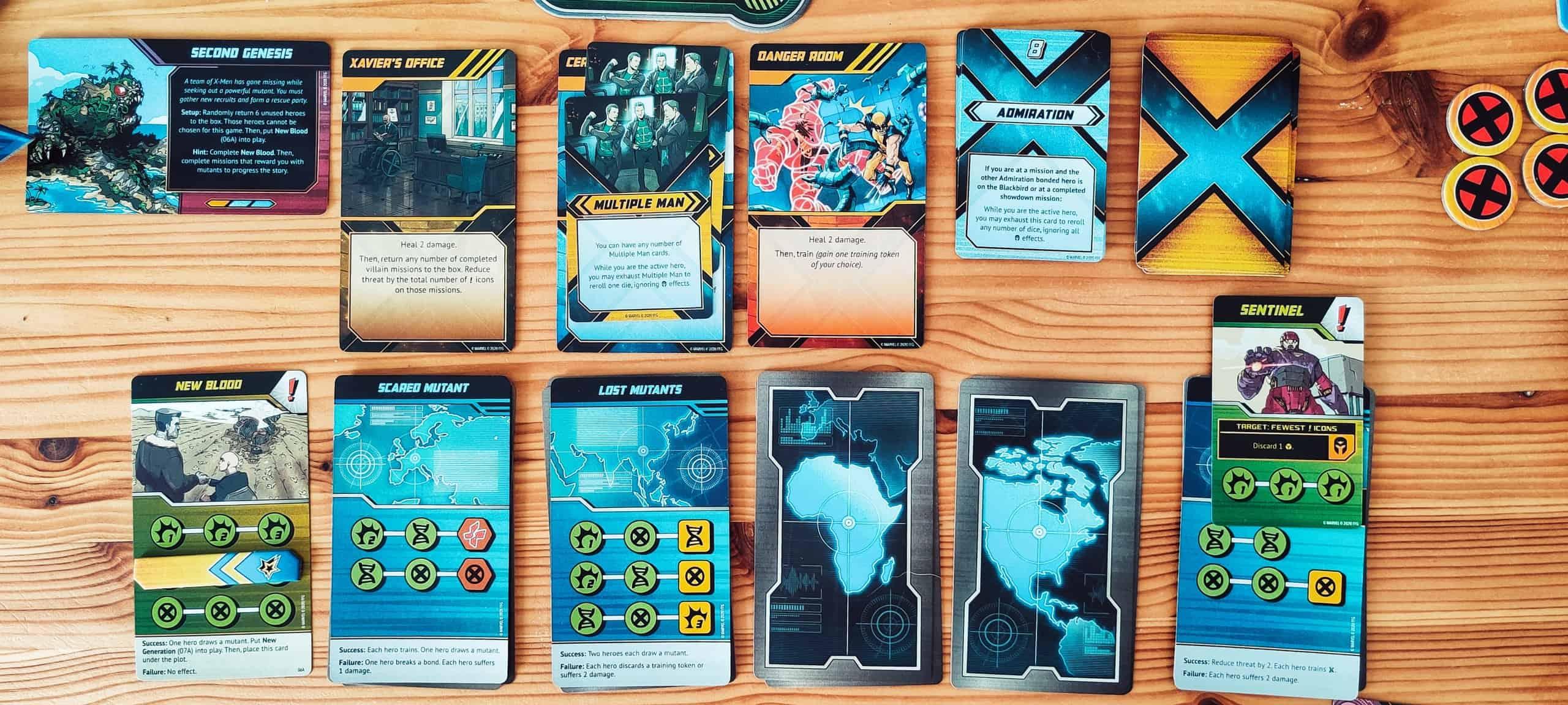 Pelin eri tehtäviä ja kortteja