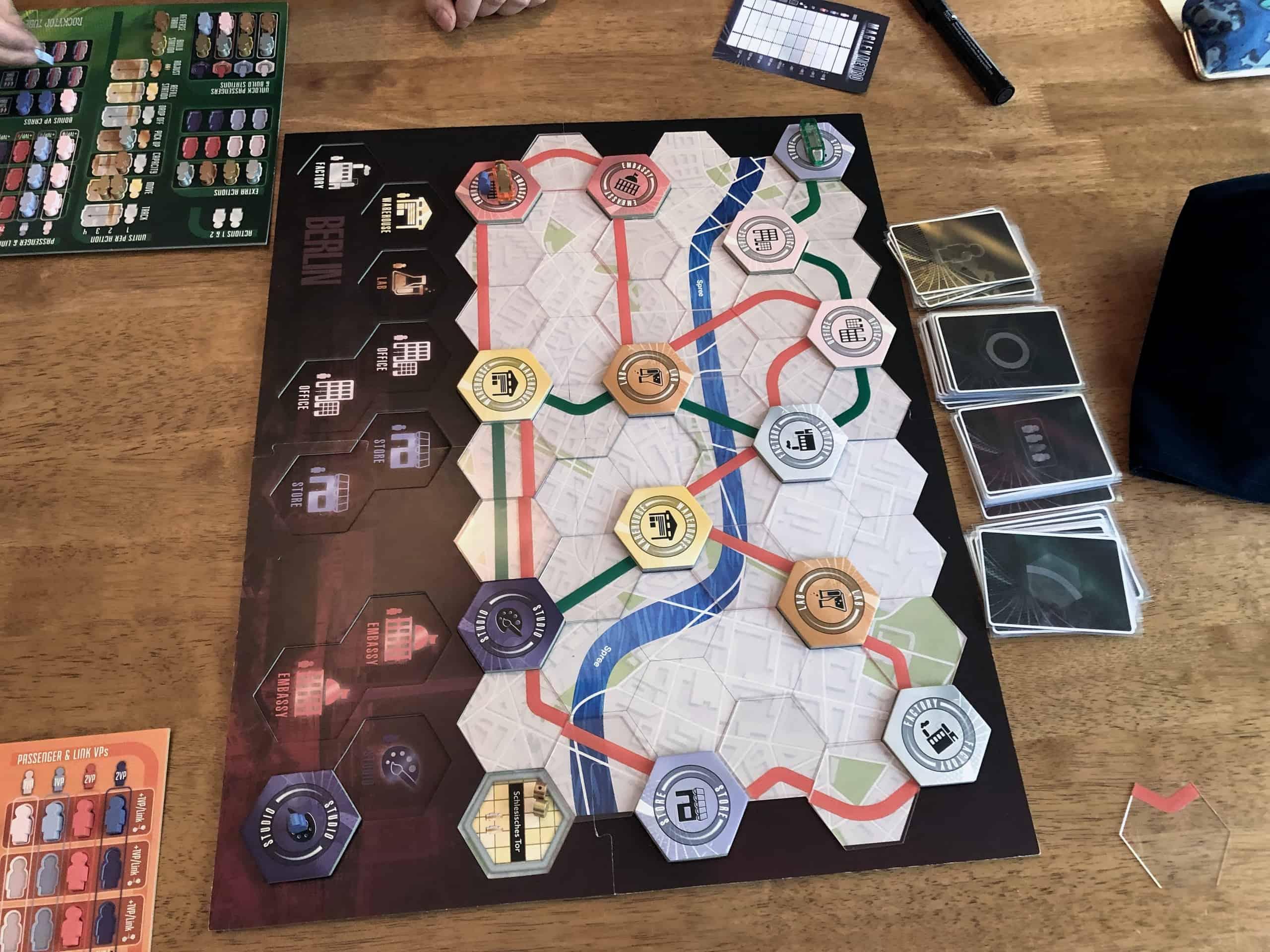 Maglev Metron pelilauta pelin lopussa