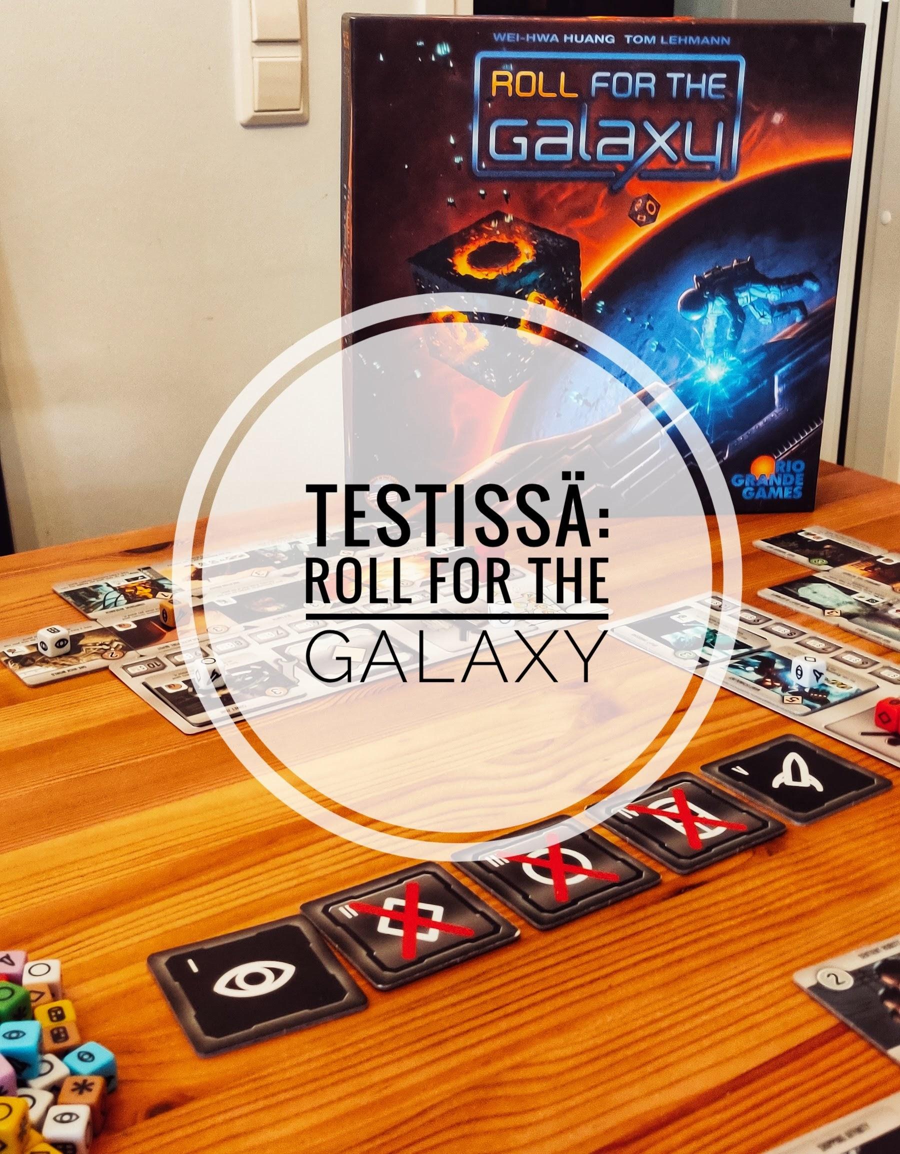 Testissä Roll for the Galaxy