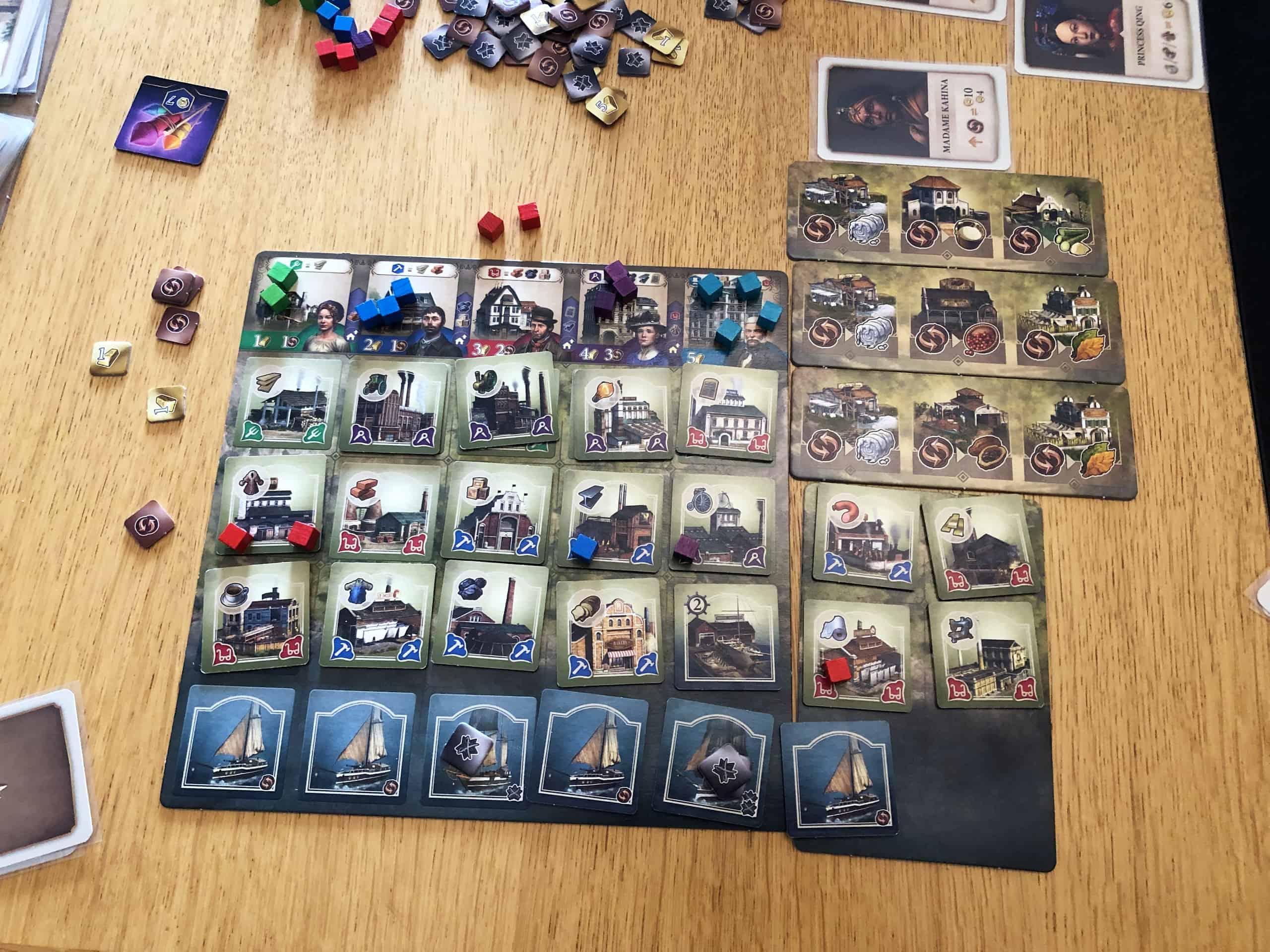 Pelaajan lauta pelin lopussa
