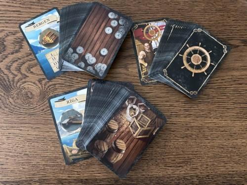 Seas of Fortunen kolme eri korttipakkaa