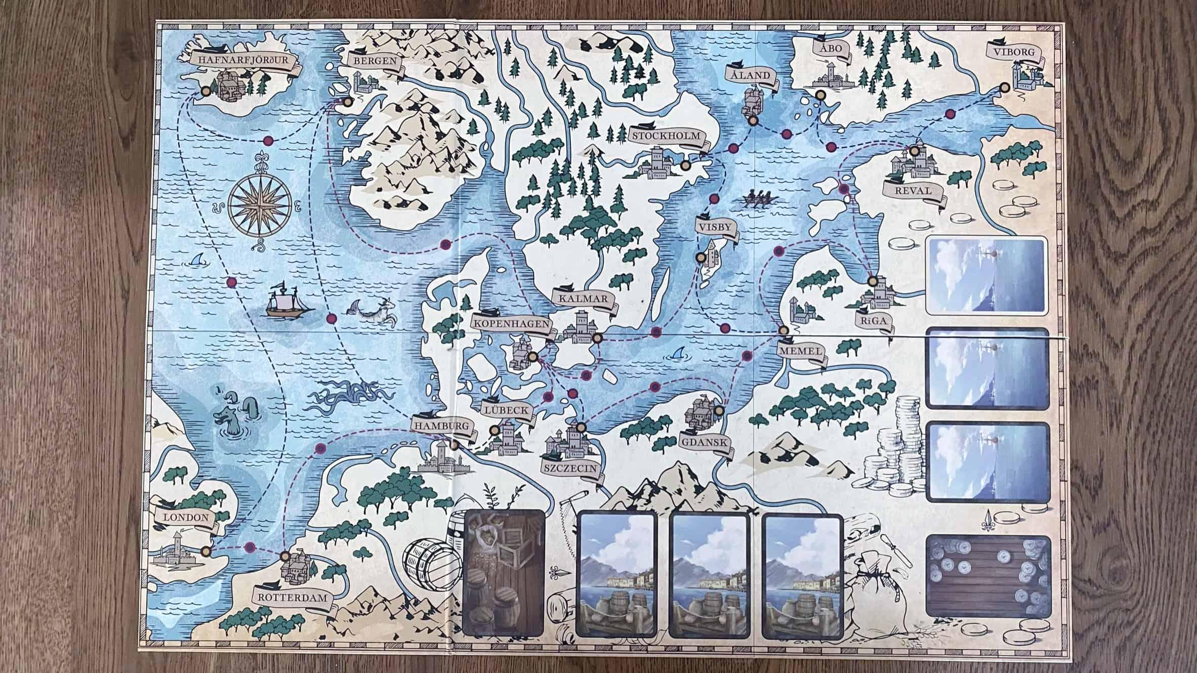 Seas of Fortunen pelilauta
