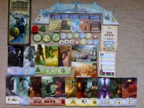 7 Wonders Duel: Pantheonin sisältö