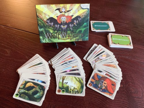 WolfWalkersin laatikko ja kortteja